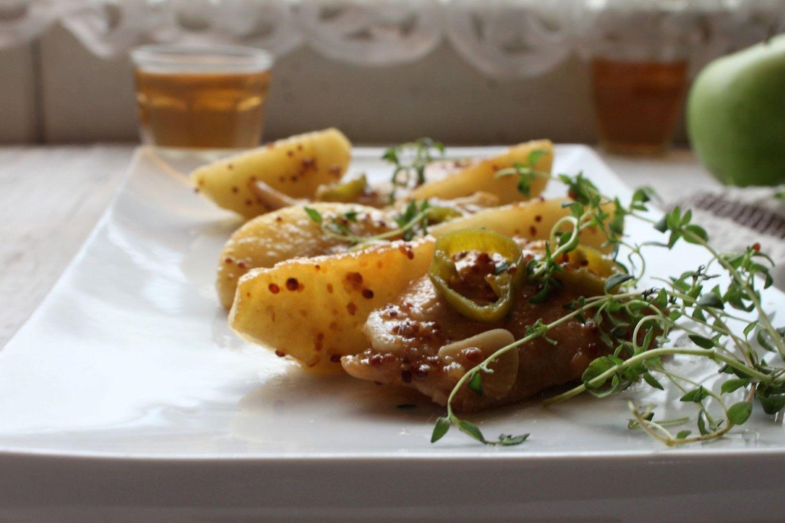 סקלופיני עוף ברוטב חרדל תפוח ודבש